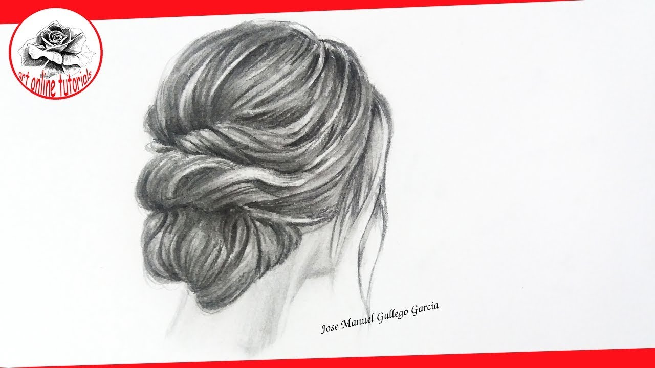 How to draw realistic woman hair step by step with pencil drawing with pencil techniques art online tutorials