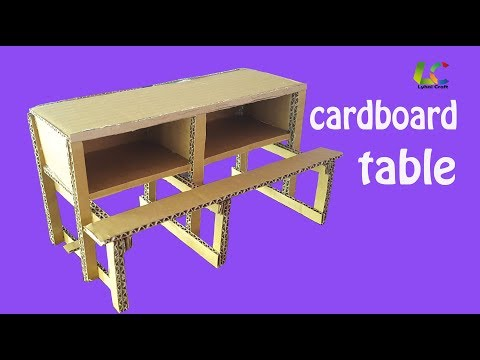 How To Make Cardboard Table,DIY Paper Table