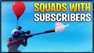 🔴 SQUADS WITH SUBSCRIBERS! // STREAM SNIPE ME // POSITIVE STREAM // FAMILY FRIENDLY // FORTNITE BR