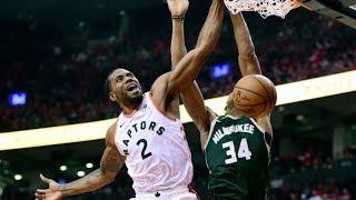 Kawhi Dunks on Giannis Game 4! Raptors Tie Series! 2019 NBA Playoffs