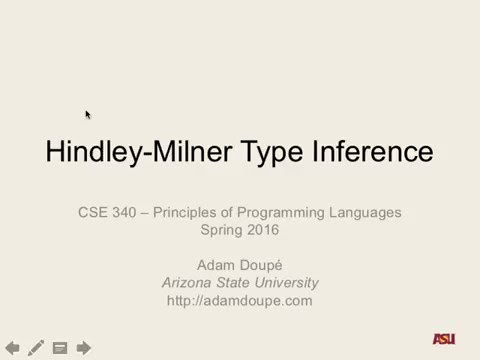 """CSE 340 S16: 3-30-16 """"Hindley-Milner Type Inference pt. 1"""""""