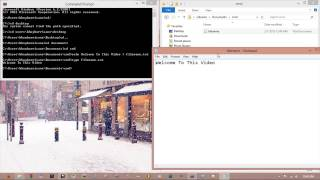 Creating and Writing text file in Command Prompt