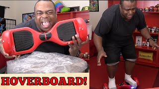 FAT GUY ON HOVERBOARD!