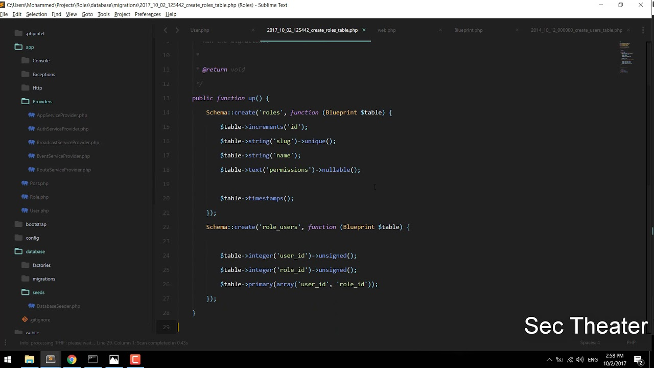 Laravel ACL : #1 Creating Migrations