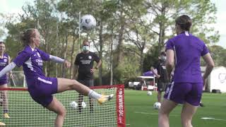 Soccer Tennis With Orlando Pride