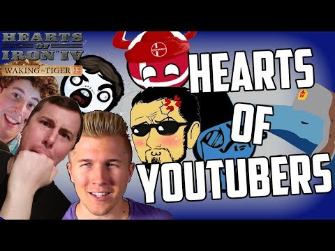 Hearts of Iron 4 HOI4 Trying Out The Hearts of YouTubers Mod - Who Will Win?
