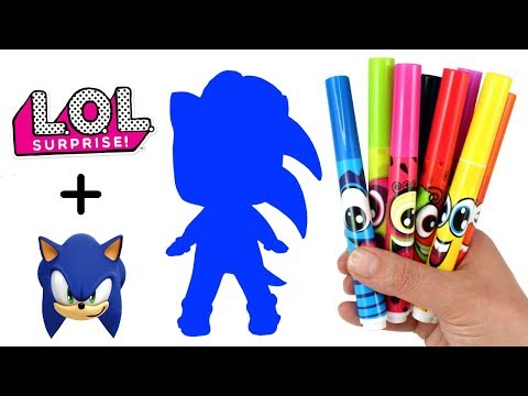 Fan Request: Sonic the Hedgehog LOL Doll Transformation | How to Draw Sonic as LOL Surprise Doll