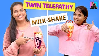 Twin Telepathy Milkshake Challenge l Smoothie Challenge l Ayu And Anu Twin Sisters