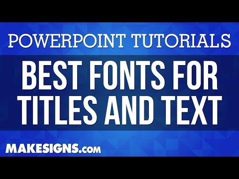 what fonts to use on your powerpoint poster presentation youtube
