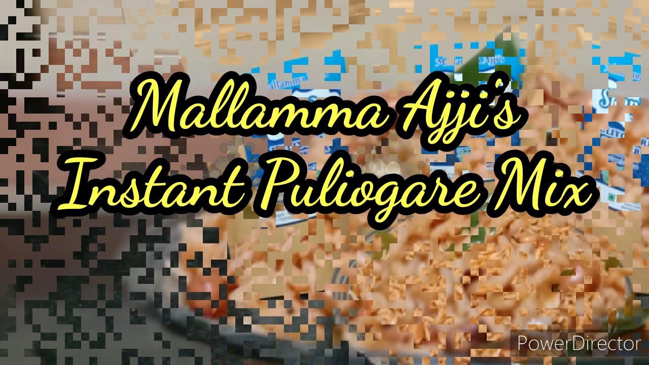 Instant Puliogare Mix by Mallamma Ajji !!! Order Now!!