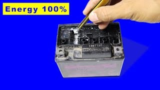 How to Repair Dry Battery get 100% Energy Back at home , No need to add Acid
