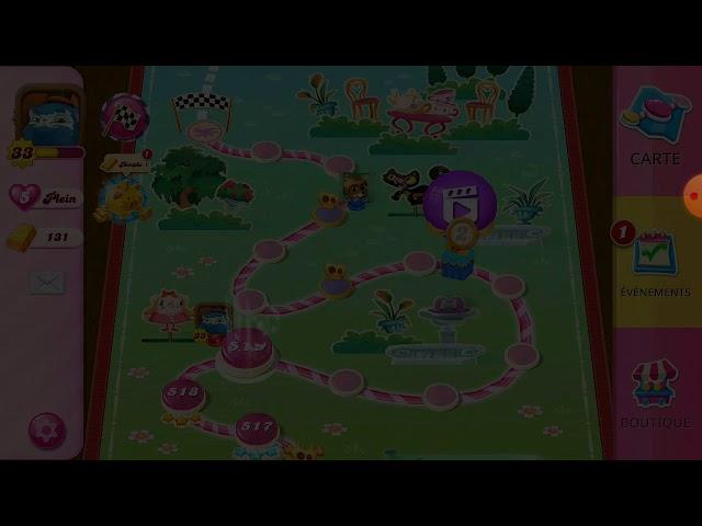 Candy Crush Saga niveau 519