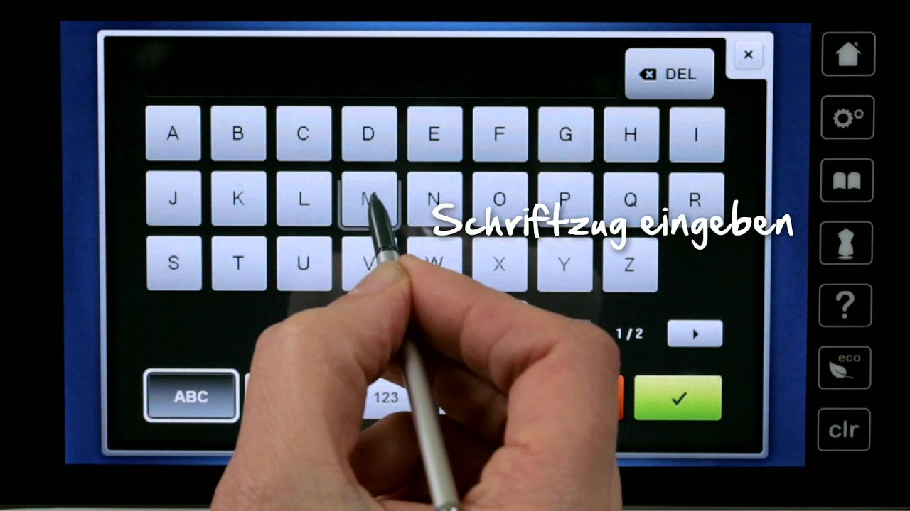 8/10 BERNINA 780: Stickmuster bearbeiten - YouTube
