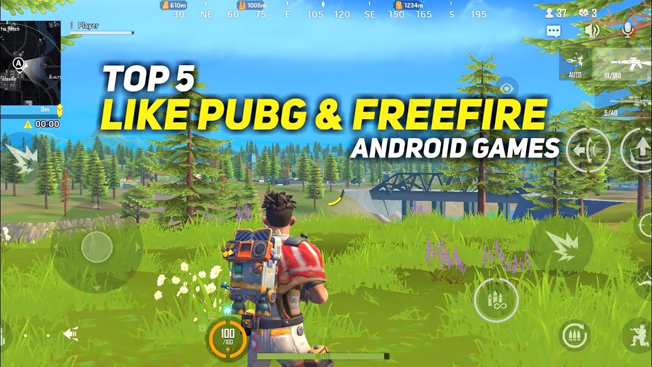 Top 5 Best Games Like Pubg & Freefire for Android   Best Games Like Pubg Mobile