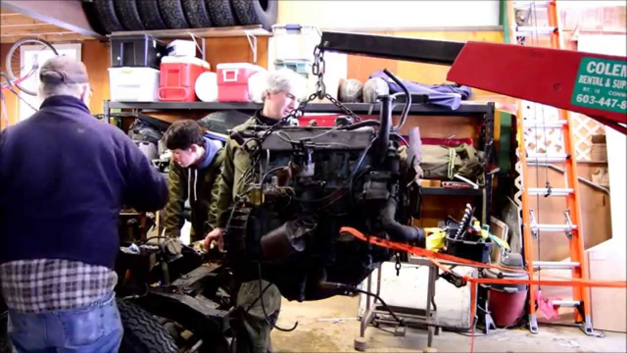 Removing A Series 2a 109 1970 Land Rover Engine