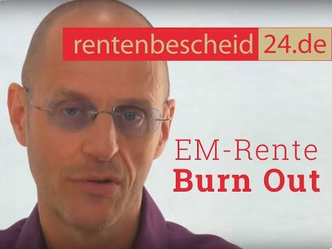 Erwerbsminderungsrente - Thema: Burn Out
