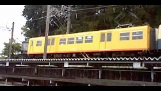 三岐鉄道北勢線旧三重交通色阿下喜行きめがね橋周辺通過