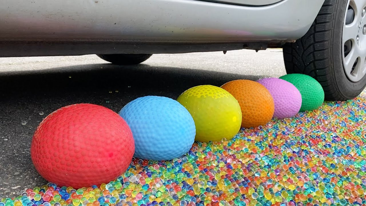 Crushing Crunchy & Soft Things by Car! EXPERIMENT: Car vs Orbeez Balloons