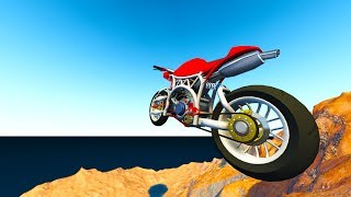BeamNG Drive - SPORTS BIKE VS GIANT CANYON JUMP!