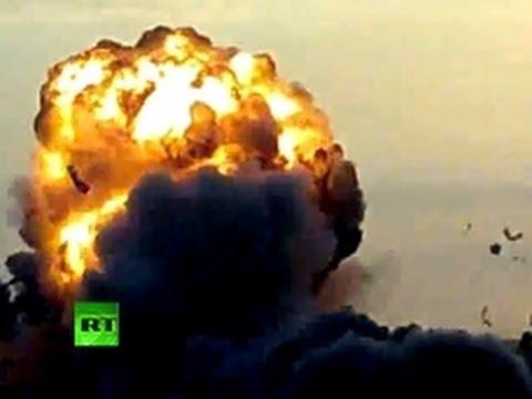 Video: Massive explosion as Israel airstrikes Gaza
