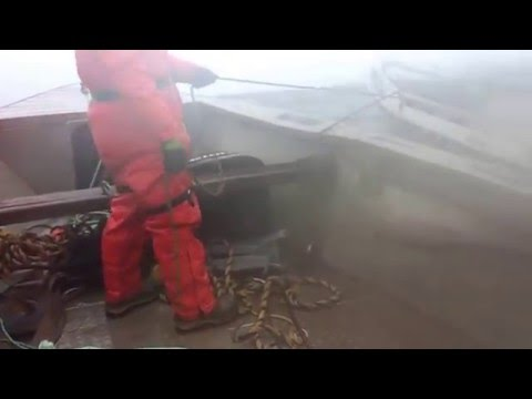 towing in rough seas