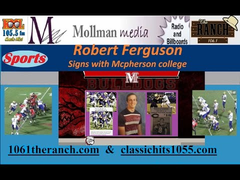 Robert Ferguson signs with Mcpherson College