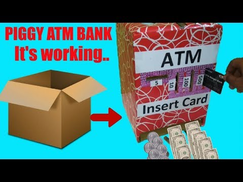 How to Make ATM Piggy Bank at Home   Science Projects atm   DIY Craft for Kids