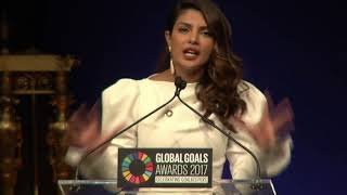 Priyanka Chopra Speech at Global Goals Awards