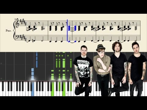 Fall Out Boy - I've Got All This Ringing In My Ears And None On My Fingers - Piano Tutorial + Sheets