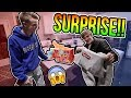 Surprising my Best Friend with a BRAND NEW SUPREME BOX LOGO!! (OMG!!)