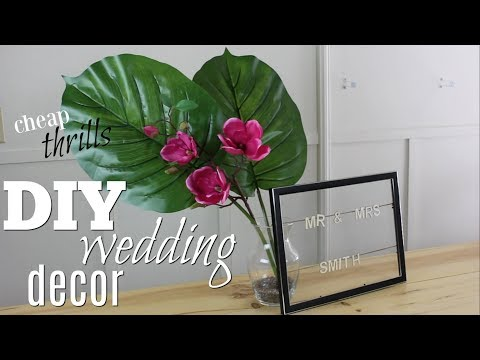 DIY Wedding Decor   Cheap Thrills