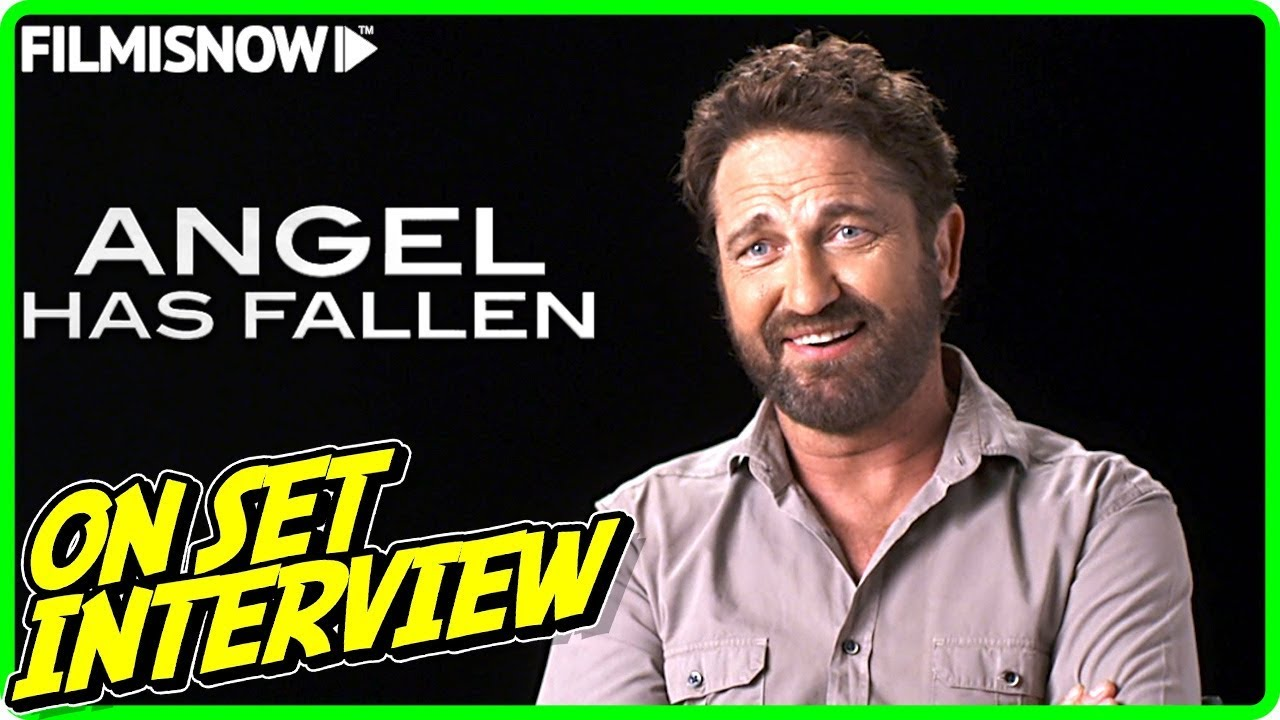 ANGEL HAS FALLEN Gerard Butler Mike Banning On set Interview