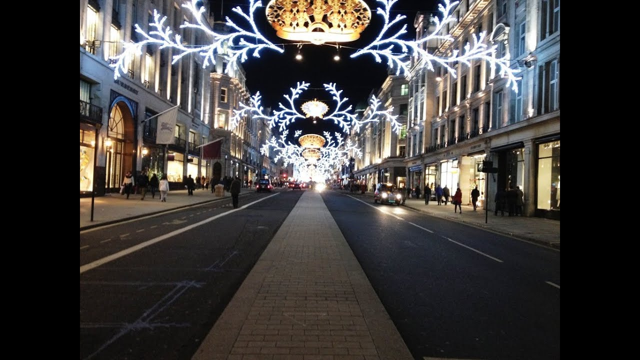 spectacular christmas lights and shop windows displays in central london youtube