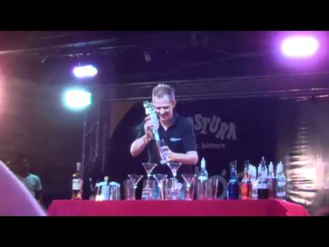Flair Bartending Routine at Angostura Global Cocktail Challenge 2011