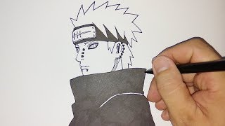 cara menggambar nagato pain / how to draw nagato pain