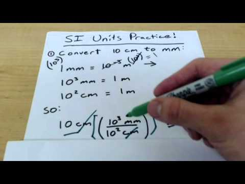 Chemistry 101: SI Units and the Metric System with examples