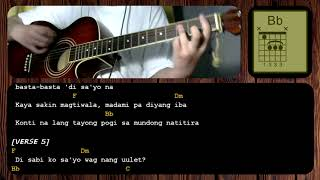 Hayaan Mo Sila by Ex Battalion - GUITAR CHORDS - TUTORIAL - ACOUSTIC