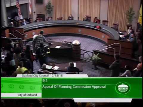 October 18 Oakland City Council