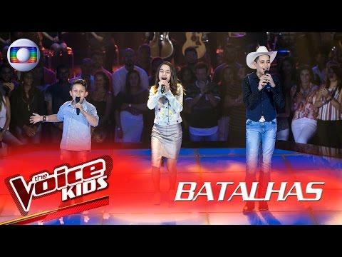 Lucas Hernandes, Lucas Viola e Luna Pietá cantam 'Triste Berrante' - The Voice Kids