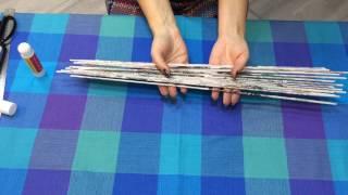 Урок 1.Как сделать бумажные трубочки