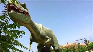 Влог.Крит Греция.Парк Динозавров. Динопарк. Выставка с динозаврами.