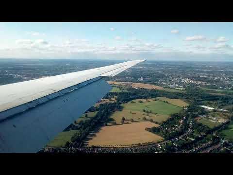 Danish Air Transport MD-82 arrival London Heathrow