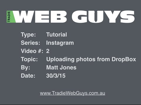 Uploading images from DropBox and posting them to Instagram