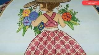 Baixar [Puntada Fantasía] Vestido niña con flores | Un Mundo Maravillisa