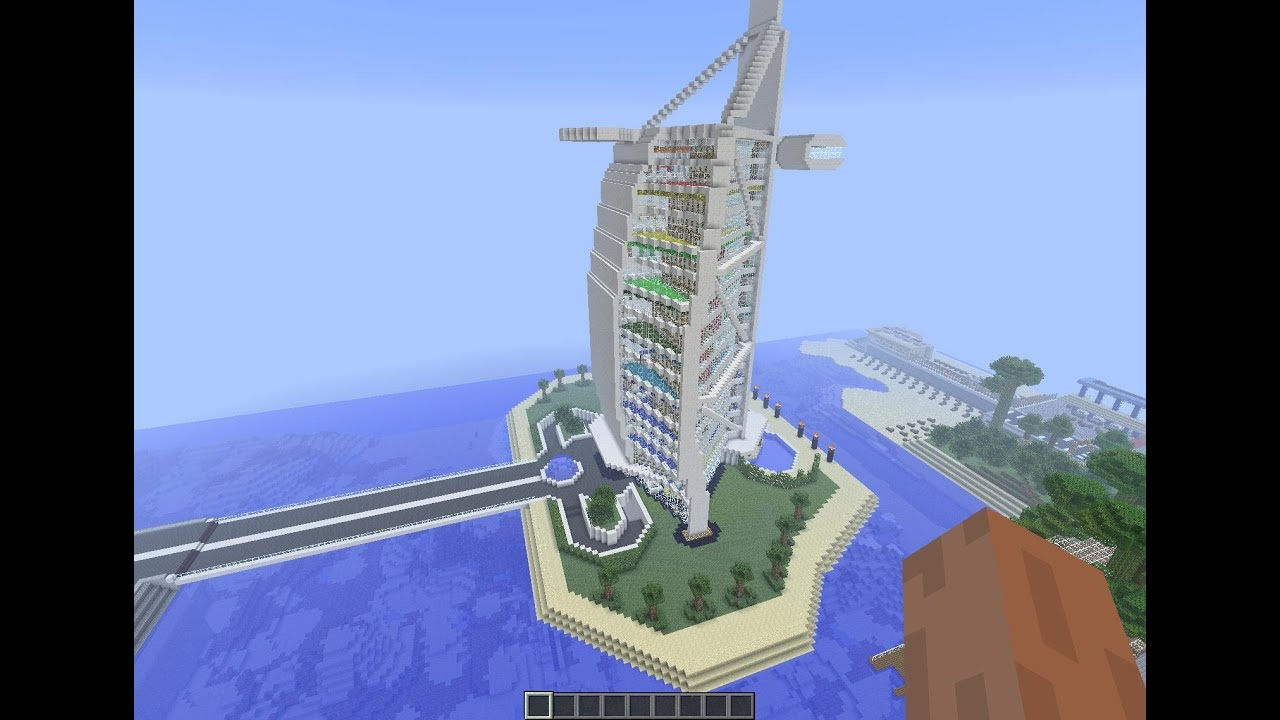 Minecraft hotel burj al arab dubai interior youtube for 6 star hotel dubai