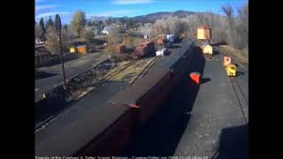 11/07/2018 488 comes into Chama, NM with a train from Antonito