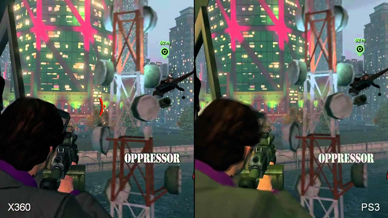 Saints Row The Third PS3 Vs XBOX 360 Graphics