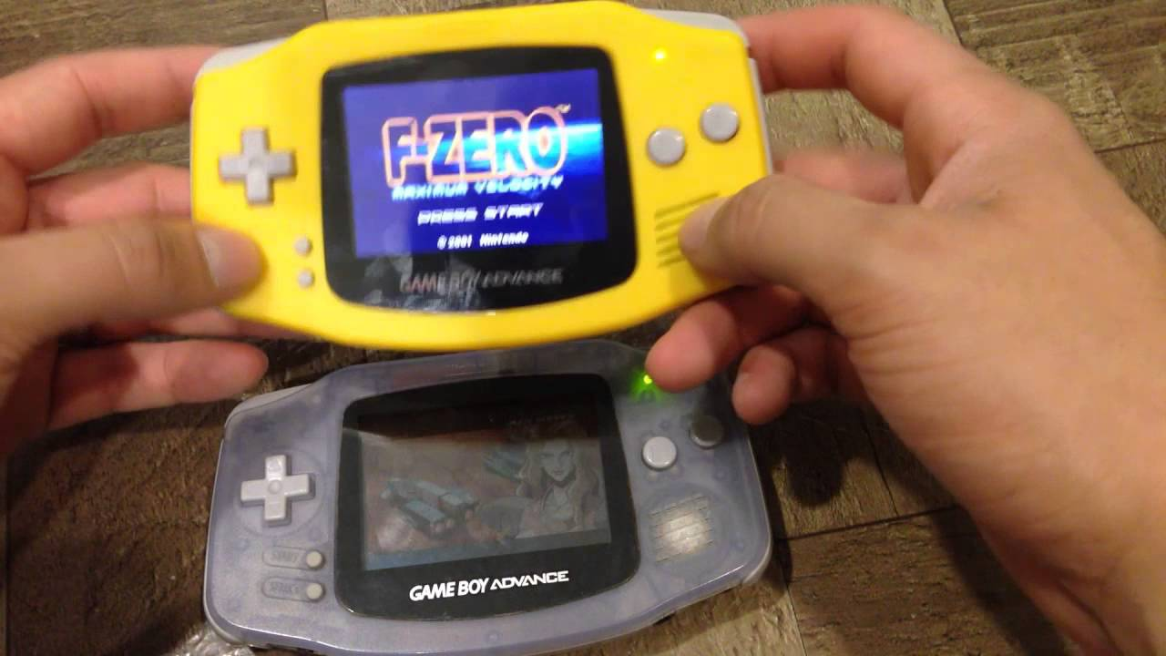 GBA AGS screen MOD side by side difference Game Boy Advance AGS 101 vs AGB  001