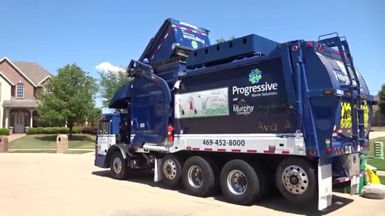 Progressive waste solutions mack leu heil cng half pack freedom curotto can youtube