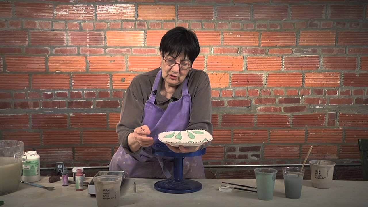 Pottery Video: Decorating with Slips, Sgraffito, Glaze and Dots ...